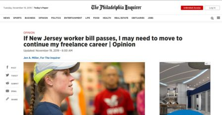 NJ Workers Bill Introduced, will impact freelance careers